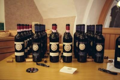 Le etichette in degustazione durante Degustazione Storica Mannucci Droandi